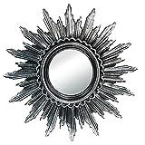 Schlichter Effektspiegel Rundspiegel Wandsticker Spiegel Dekospiegel Kristalle aus Kunststoff in