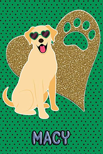 Lab Life Macy: College Ruled | Composition Book | Diary | Lined Journal | Green