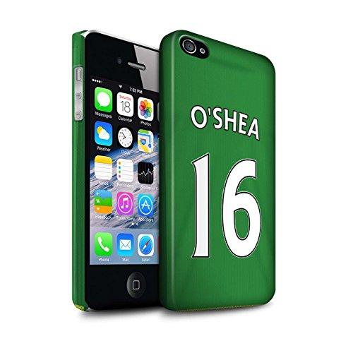Officiel Sunderland AFC Coque / Clipser Matte Etui pour Apple iPhone 4/4S / Pack 24pcs Design / SAFC Maillot Extérieur 15/16 Collection O'Shea