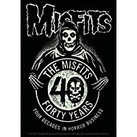 The Misfits Skull in Silver STICKER Small 1.125 Inches Original Licensed Symbol on Embossed METAL STICKER