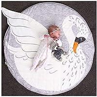 AMY Colchoneta de Dibujos Animados Cisne de Gatito Infantil colchoneta Decorativa de Juegos