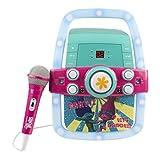 Enfants Karaoke kit de haut-parleur portable pour les enfants / jouets pour enfants avec microphone clignotant bar karaoké avec lecteur MP3 point de prise AUX pour connecter votre iPad, iPhone, iPod, tablette ou lecteur de CD pour jouer de la musique et chanter! (Trolls)