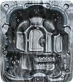 Vasa-Fit, Whirlpool W215, Whirlpool aus hochwertigem Sanitäracryl für 5-6 Personen in SkyBlack