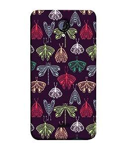 Fuson Designer Back Case Cover for Micromax Unite 2 A106 :: Micromax A106 Unite 2 (Insects Moths Dragon Flies Garden)