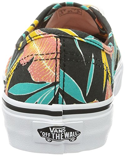 Vans Ua Authentic, Scarpe da Ginnastica Basse Donna Nero (Tropical Leaves)