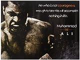 Tri-Seven Entertainment Muhammad Ali Poster Be Courageous Zitat Kunstdruck (18x 24)