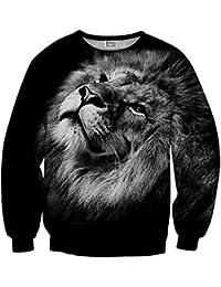 Mr. Gugu & Miss Go ® ⋅ Black Lion Suéter ⋅ 3D ⋅ Unisex ⋅ Fullprint ⋅ Impreso ⋅ Multicolor ⋅ Primavera ⋅ Verano ⋅ 2017 ⋅
