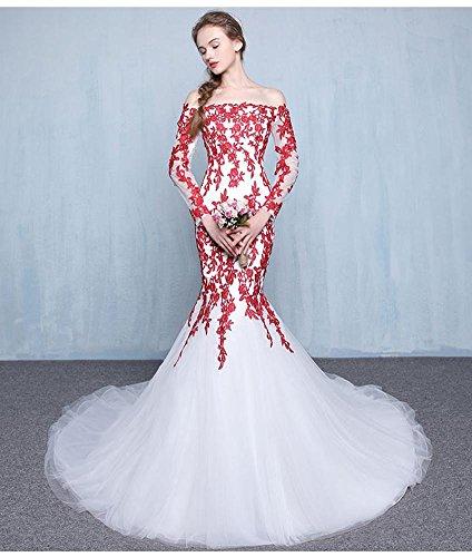 Beauty-Emily Damen Column Kleid rot rot 34 rosso-A