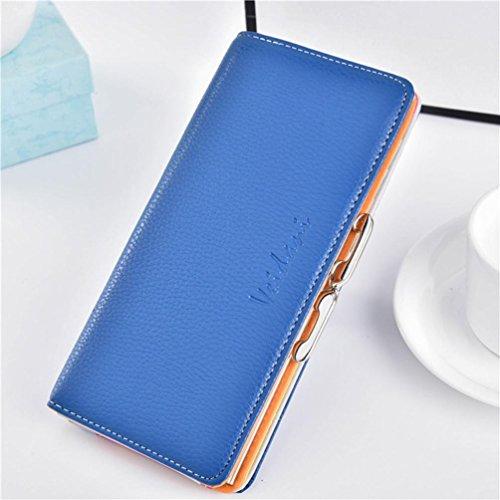 Portafoglio Donna, Tpulling Portafogli donna Hasp Portafogli borsa donna Borse portafogli borsa design frizione (Orange) Blue
