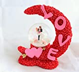 #9: Valentine Gifts Snow Globe Dome by Lilone (Moon)