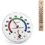 Lantelme 6784Set Temperatura y Humedad, cuchillo Combi dispositivo–2piezas Analog combinado Termómetro y higrómetro y madera termómetro