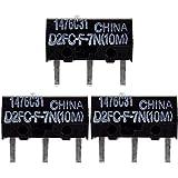 3x OMRON D2FC-F-7N (10M) Kit de Reparación de Microinterruptor / Kit de Reparación apropiado para mouse de computadora de Logitech, Razer, Roccat, SteelSeries y otros