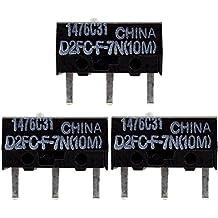 3x OMRON D2FC-F-7N (10M) Kit di Riparazione di Microinterruttori / Kit di Riparazione adatto per mouse per computer di Logitech, Razer, Roccat, SteelSeries e altri