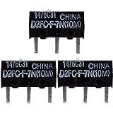 3x D2FC-F-7N(10M) Mikroschalter Reparatur-Satz / Repair-Kit passend für Mäuse von Logitech, Razer, Roccat, SteelSeries und Weitere