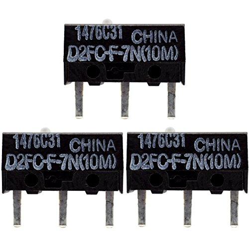 IT-Services Irro 3X D2FC-F-7N(10M) Mikroschalter Reparatur-Satz/Repair-Kit passend für Mäuse von Logitech, Razer, Roccat, SteelSeries und Weitere
