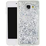 """Nnopbeclik [Coque Samsung Galaxy A3 2016 Silicone] Paillettes Briller Style Backcover Doux Soft Housse pour Samsung Galaxy A3 2016 Coque Transparente """"A310F"""" (4.7 Pouce) Antichoc Protection Antiglisse Anti-Scratch Etui - [Argent1]"""