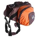 Verstellbare Hundeleine Rucksack Satteltasche Hundegeschirr Carrier Wasserdicht und tragbar Abnehmbare Taschen für Outdoor-Reisen Wandern Camping