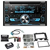 Kenwood DPX-7000DAB Digitalradio Bluetooth USB CD Aux MP3 Autoradio Einbauset für Mercedes Sprinter W906 Crafter