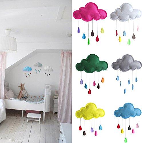 n-Dekoration, süße Wolken, Wassertropfenform, zum Aufhängen, Wandaufkleber, Kinderwagen, Spielzelt, Dekoration, Film-Requisiten, DIY Spielzeug Rose-red Cloud ()