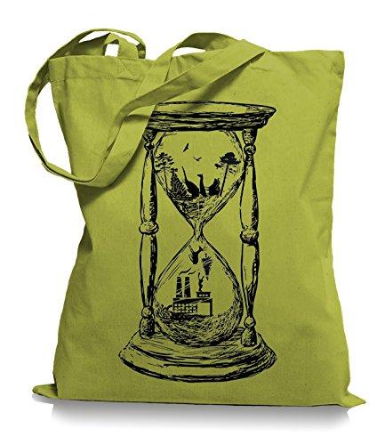 Ma2ca® Save the Nature - Naturschutz Jutebeutel Stoffbeutel Tragetasche / Bag WM101 Kiwi