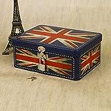 WENLONG boîte de Rangement, élève Jouet Travail Affichage Couture Industrielle boîte rectangulaire commémoration portatif,Couleur Lilas
