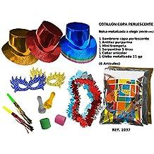 CAPRILO Lote de 10 Bolsas de Cotillones Decorativas Sombrero Copa. Cotillón  para Fiestas y Eventos b687c0fedd4