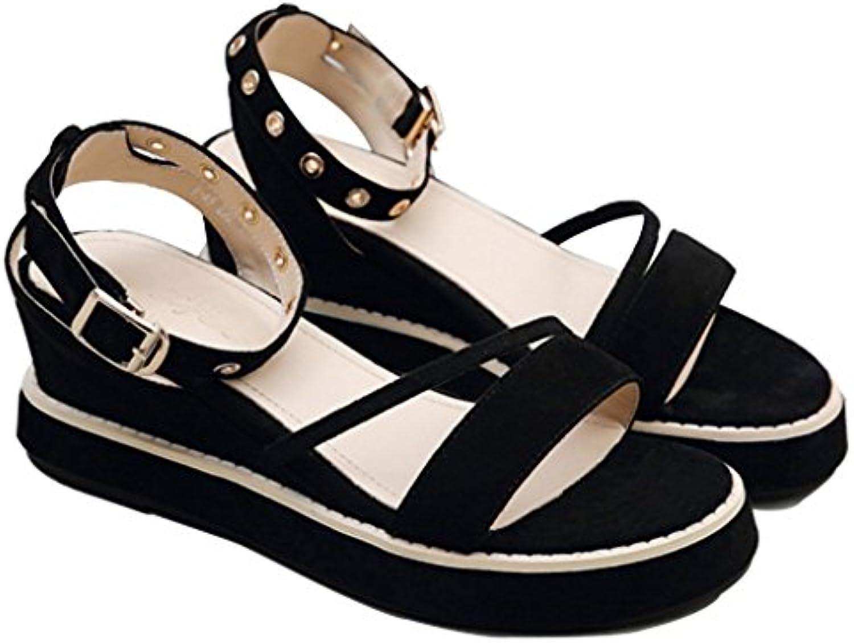Sandali Sandali Sandali Zeppa Estate Femminile Versione Coreana Open-Toe Scarpe da Spiaggia Casual Romana | Qualità Superiore  ece9d3