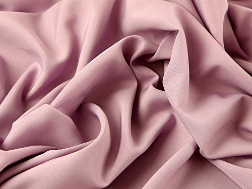 Soft Touch Polyester Crepe Kleid Stoff mauve–Meterware (Polyester Crepe)