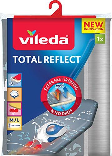Vileda Total Reflect Bügeltischbezug, taupe-anthrazit, für verkürzte Bügelzeit