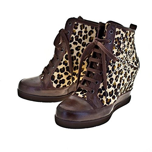 ROBERTO BOTELLA - <p>     Sneakers avec talon compensé    </p>     Animal print - Combi1