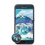 atFolix Samsung Galaxy A3 (2017) Front Folie - 3 x FX-Curved-Clear Flexible Schutzfolie - vollflächiger Schutz bis Zum Rand
