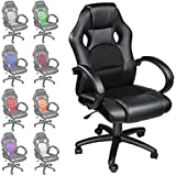 TecTake 800030, TECTAKE LUXURY OFFICE RACING CHAIR - different colours - (Black) (Home & Garden)