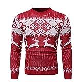 Jodimitty Herren Weihnachtspullover Pullover Weihnachtspulli Strickpullover Rundhalspullover Pullover