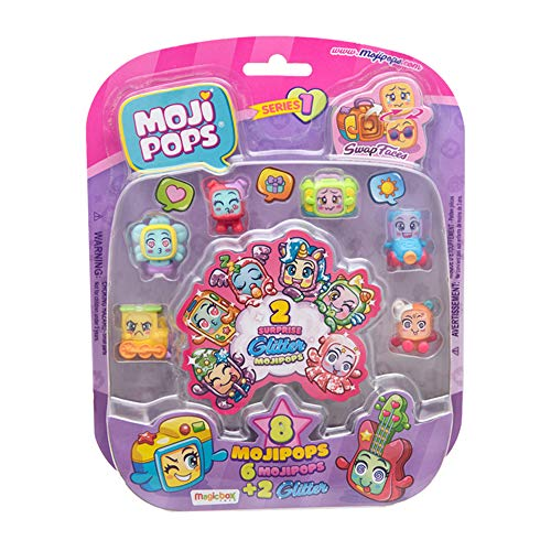 MojiPops - Glitter Surprise Figure da Collezione, Serie 1, Assortito