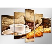 Cuadro en Lienzo 100 x 50 cm Nr. 6401 café enmarcado y listo para colgar, calidad de la marca Visario