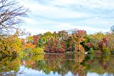 """Leinwand-Bild 80 x 50 cm: """"The Lake together with the Ramble are are one of the main features of central park and were designed by Frederick Law Olmsted a"""", Bild auf Leinwand"""