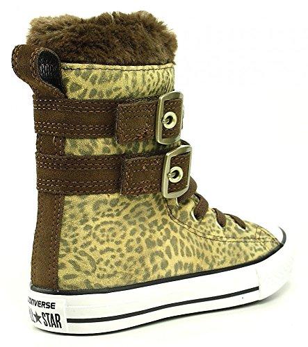 Converse, Chuck Taylor All Star Junior Animal Fur HI, Sneaker, Ragazza Leopard