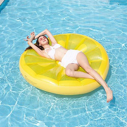 de-ons Runde Zitrone Schwimmende Reihe Schwimmende Insel Schwimmring Übergroße Gelbe Pool Rafts Pool Spielzeug Liege Strand Schwimmbad Seaside Party ()
