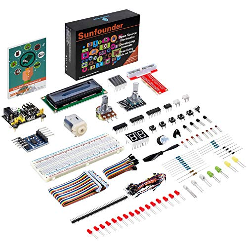 Sunfounder Project Super Starter Kit for Raspberry Pi (for RPi 3/2/B+ with English Manual) (Python-starter-kit)