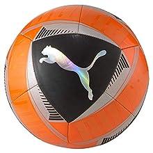 Puma Icon Ball, Pallone da Calcio Unisex-Adult, Shocking Orange Black Silver, 4