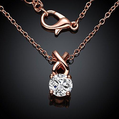 joyliveCY 2016 Fashion Women's Elegant Crystal Rhnestone Mosaic Pendant Long Chain Rose Gold-Plated Necklace