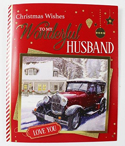 Große 3D BOX Weihnachten Karte Husband Partner Love Xmas ihn Auto Luxus Rot (Partner Ideen Dress Fancy)
