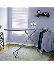 Oumffy Self Standing - Extra Large Foldable Ironing Board with Ironing Table with Iron Stand (IroningBoard-Grey) (Grey)