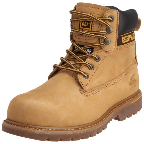 Cat Footwear Holton sb, Stivali antinfortunistici uomo, Giallo (Honey), 41