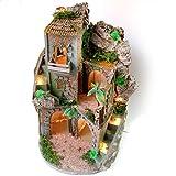 Neapolitanische Krippe handwerkliche getan Hand beleuchtetes Geschenk Dekoration Weihnachten