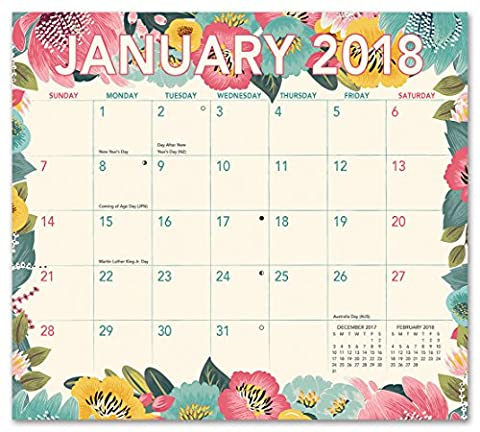 Bold Blossoms Magnetic 2018 Monthly Pad Calendar