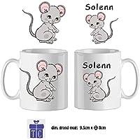 Texti-cadeaux-Mug Souris-personnalisé avec un prénom exemple Solenn