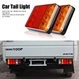 Anhänger Rückseite Lichter LED Bremslichter Rücklicht IP65 Wasserdicht 12V 8-LED Rücklicht Rückfahrscheinwerfer für Caravan Truck UTE