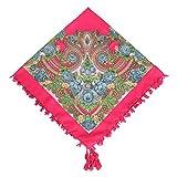 GEXING Retro Ethno-Stil Krawatte Quasten Schal Baumwolle Frühling Und Sommer Druck Blumen Schal Schal,D-90*90CM