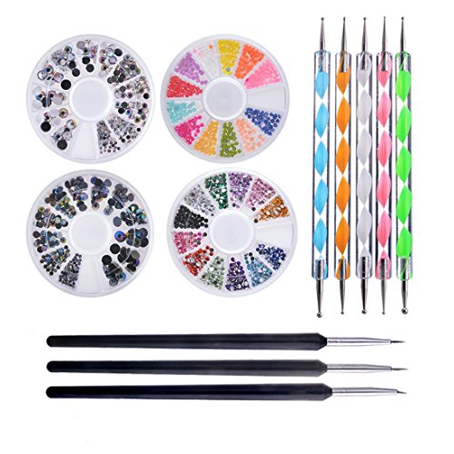 Biutee Pro Nail Art Set Kit 4 ruedas Multicolor uñas